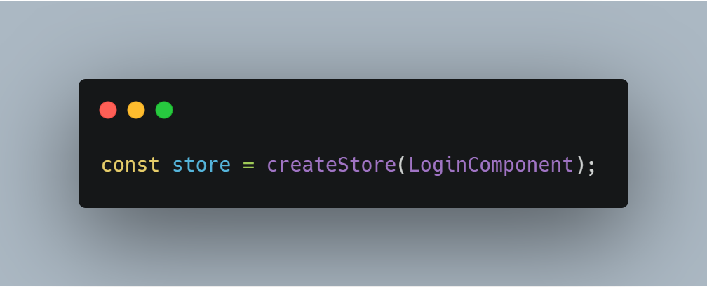 create a store for login app