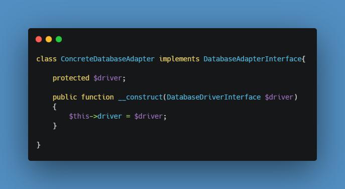 DatabaseAdapter itself has it's own dependencies