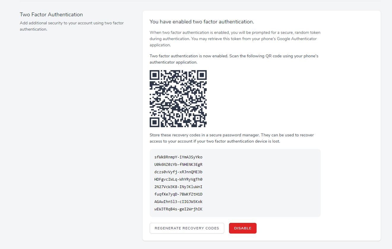 authentication with QR code