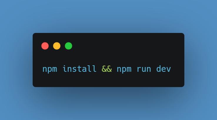 npm install && npm run dev