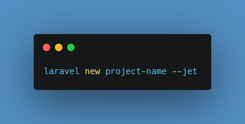 install a new Laravel Jetstream project