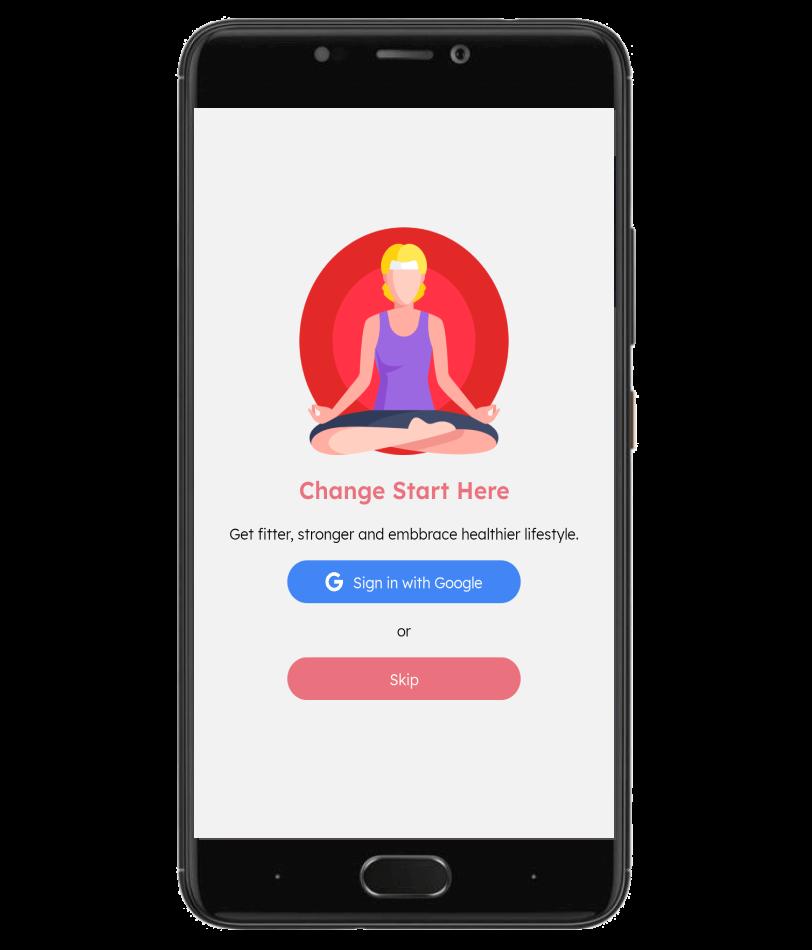 Fitnessplanner Screen 2